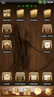 Wood Skull GO launcher EX - screenshot thumbnail