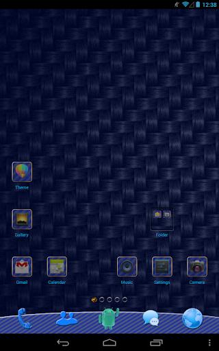 Blue Carbon GO Launcher Theme