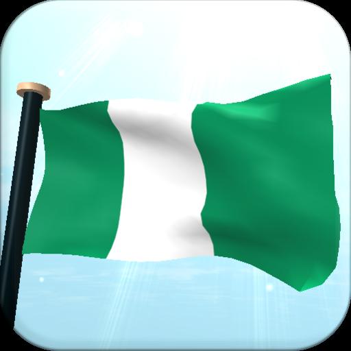 ナイジェリアフラグ3Dライブ壁紙 個人化 App LOGO-硬是要APP