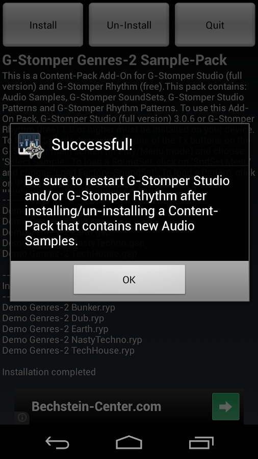 G-Stomper Genres-2 Sample-Pack - screenshot
