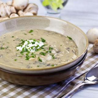 Cream of Mushroom and Wild Rice Soup.
