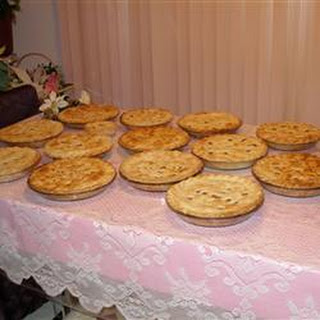 Traditional French Canadian Tourtiere.