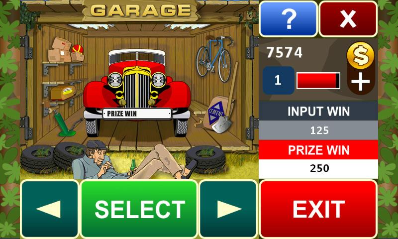 Garage slot machine- screenshot