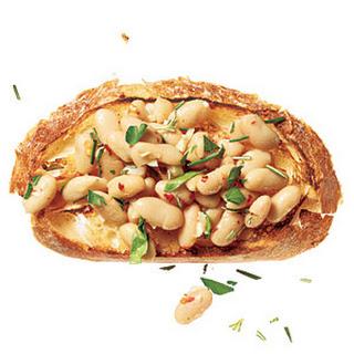 Garlicky Beans on Toast
