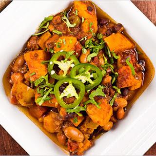 Three-Bean Slow Cooker Chili.