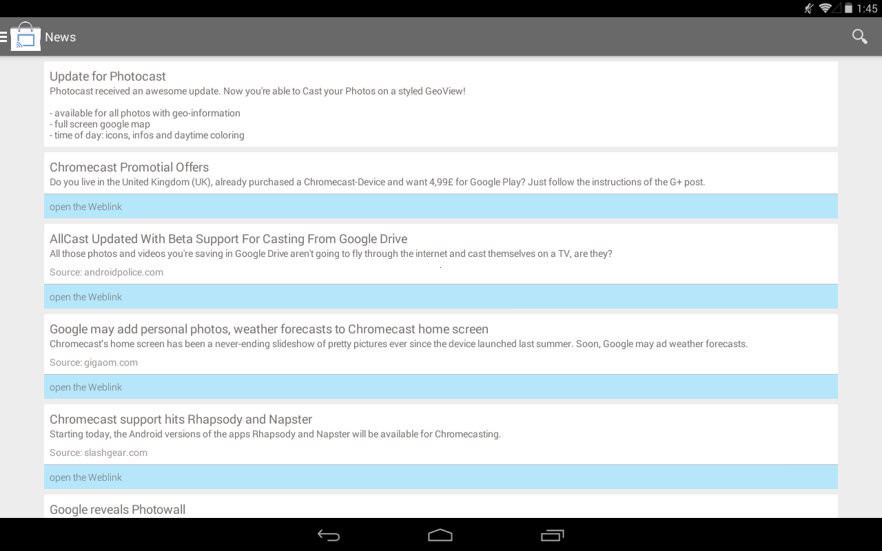 Cast Store for Chromecast Apps - screenshot