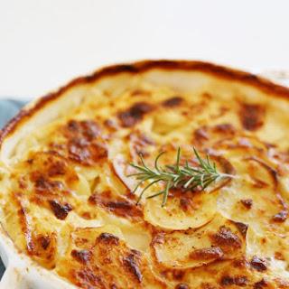 Garlic Potato Gratin with Goat Cheese