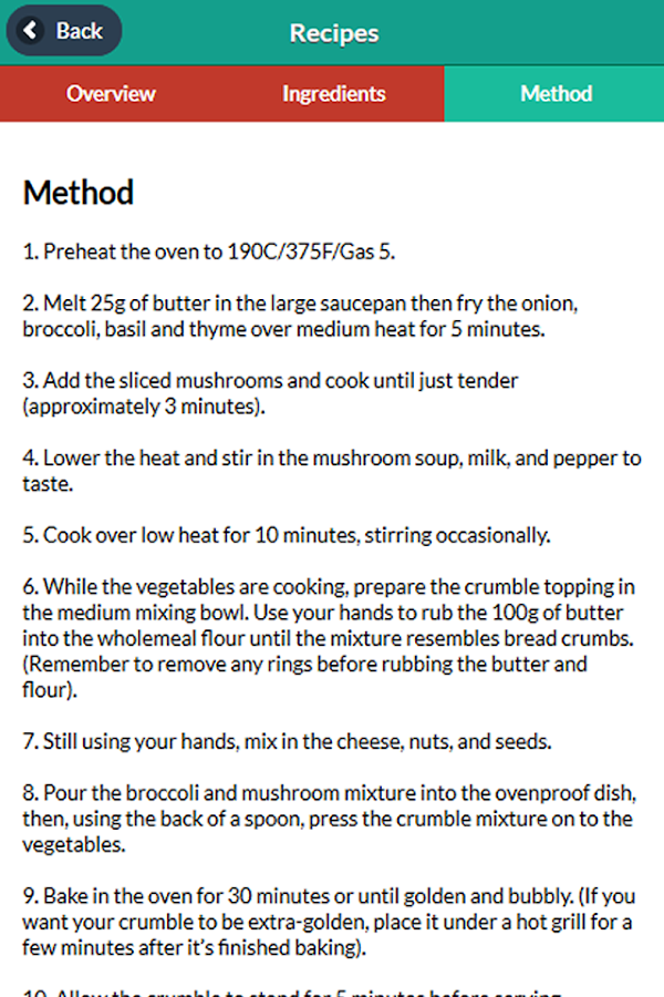 Vegetarian Society Recipes- screenshot