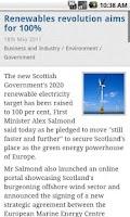 Screenshot of Scottish Government News