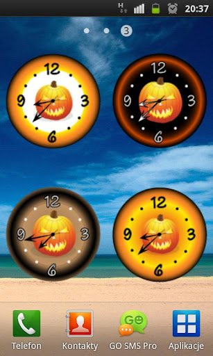 Super Halloween Clock HD