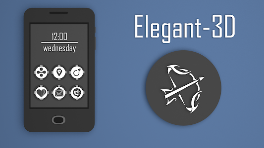 Elegant-3D Icon Pack v1.0.4