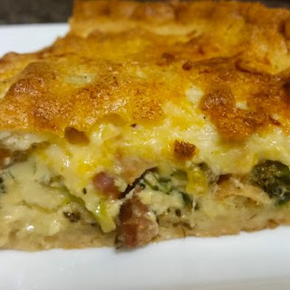Cheddar, Beer and Broccoli Pie.