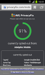 AVG Privacy Fix - screenshot thumbnail