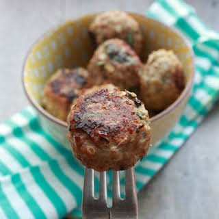 Baked Turkey Quinoa Spinach Meatballs..