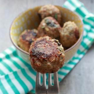 Baked Turkey Quinoa Spinach Meatballs..