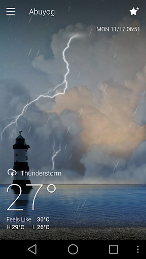 Classic GO Weather Background Screenshot