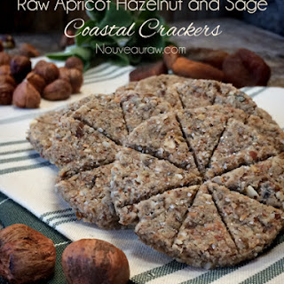 Raw Apricot Hazelnut and Sage Coastal Crackers