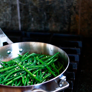 Sauteed Garlic Bacon Green Beans