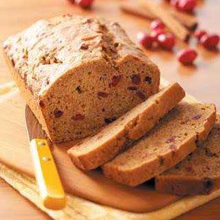 Cranberry Sweet Potato Bread.