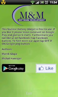 Nuclear Battery Widget - screenshot thumbnail