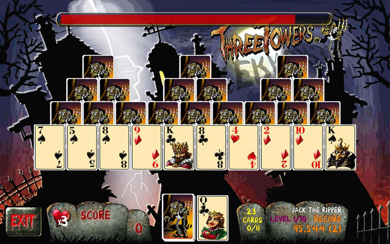 Three Towers Solitaire Free- screenshot