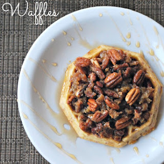 Pecan Pie Topped Waffles