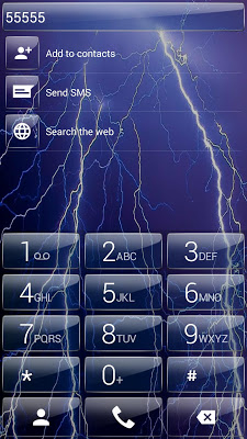 Dialer theme Thunder Glass - screenshot