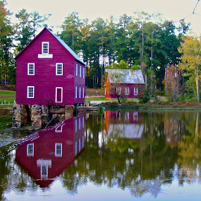 Starr's Mill, GA 10/30/04 by Hugh Hazelrigg - Buildings & Architecture Public & Historical ( building, georgia, reflections, places, architecture, historical, people )