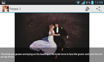 Screenshot of Wedding Photo Poses