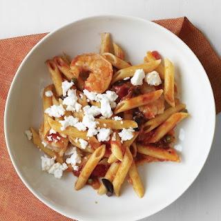 Tomato and Shrimp Pasta with Feta