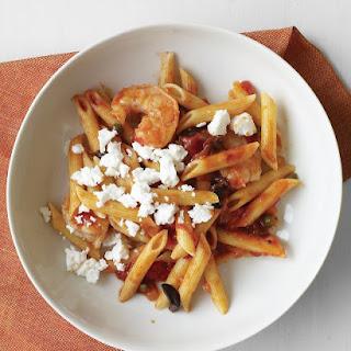 Tomato and Shrimp Pasta with Feta.
