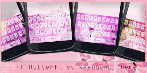 Pink Butterflies Keyboard