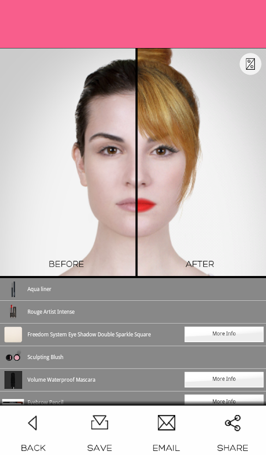 Virtual Makeover- screenshot