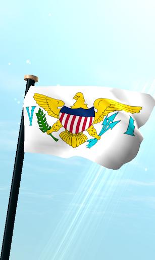 美屬維京群島,旗3D免費動態桌布