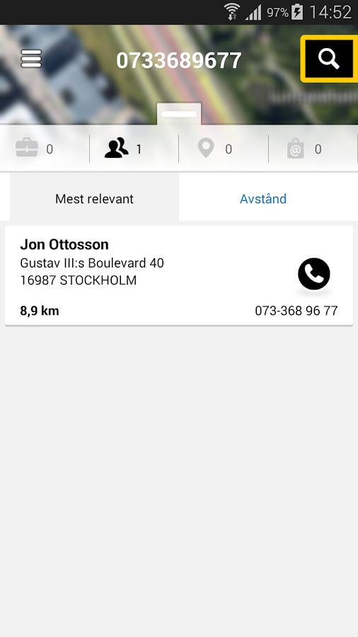 Eniro - Sök företag & personer - screenshot