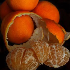 Oranges #2 by David Kreutzer - Food & Drink Fruits & Vegetables ( fruit, citrus, fresh, florida, peeled, oranges, fresh fruit )
