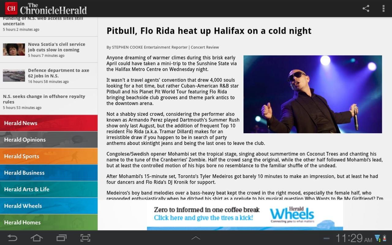 The Chronicle Herald News - screenshot