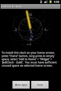 JediClock - Gold- screenshot thumbnail