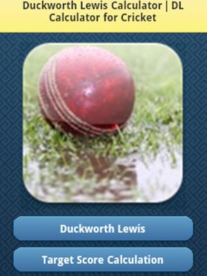 DL Calculator for Cricket - screenshot
