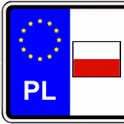 Vehicle registration plates logo