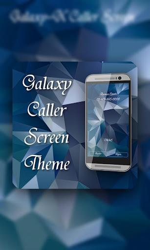 Galaxy X Caller Screen