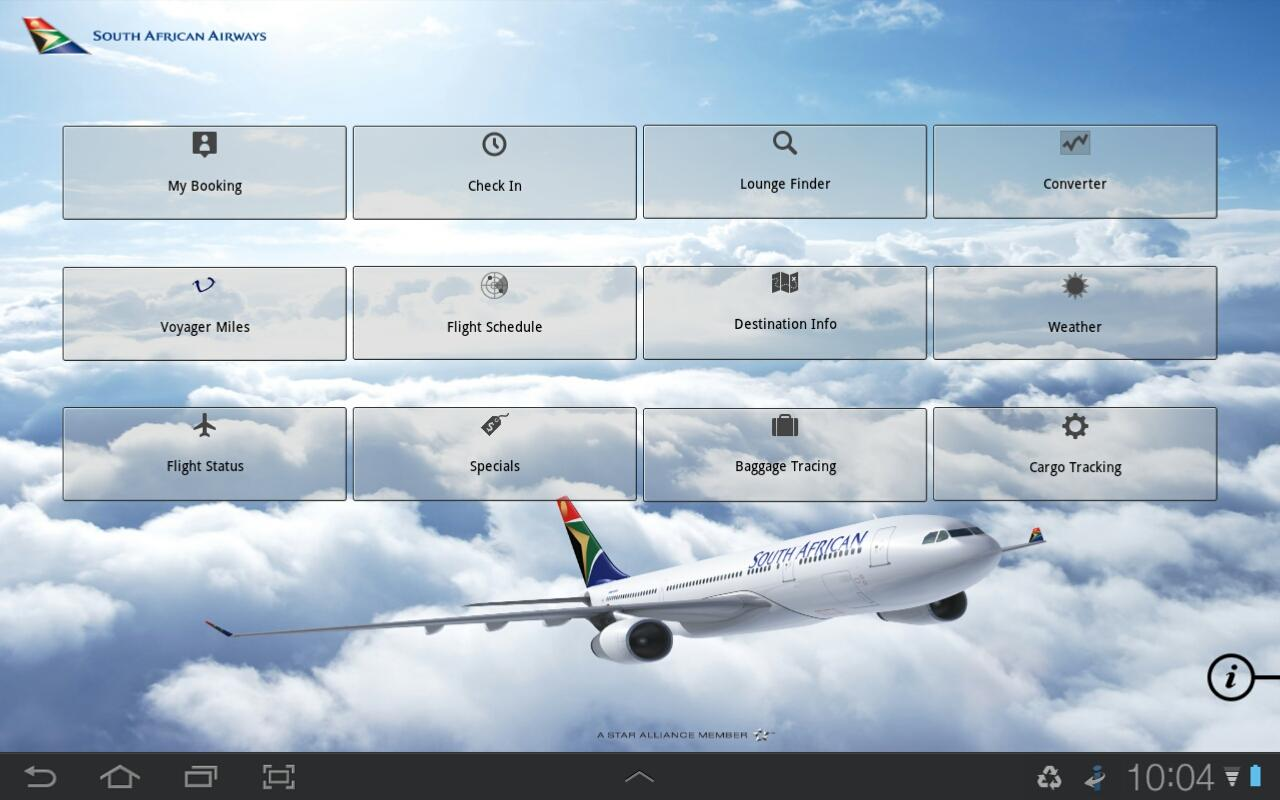 South African Airways - screenshot