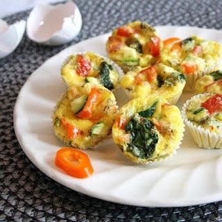 Baked Eggs & Veggies To Go ~