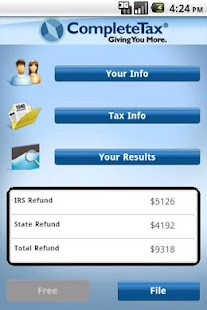 CompleteTax Mobile 1040EZ - screenshot thumbnail