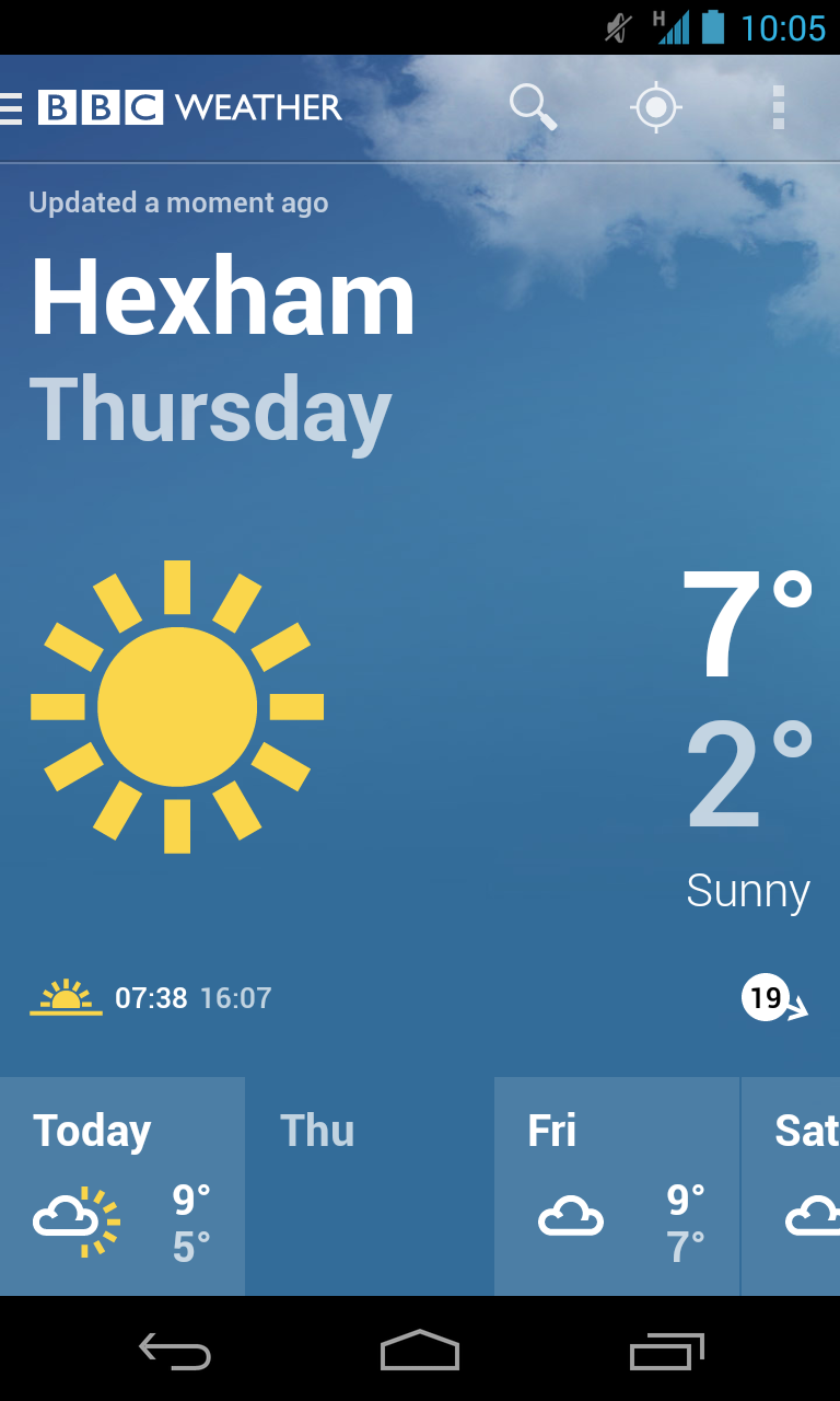 BBC Weather screenshot #1