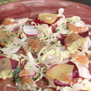 Smoked trout salad with Meyer lemon dressing