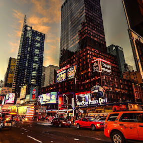 Time Square by Mithun Das - City,  Street & Park  Street Scenes