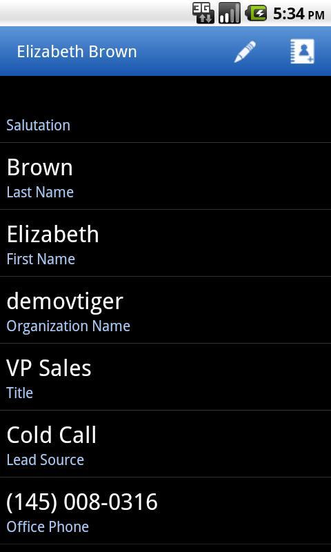 Vtiger- screenshot