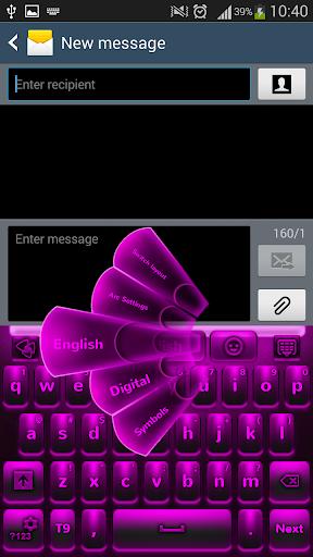 紫色のキーボードネオン