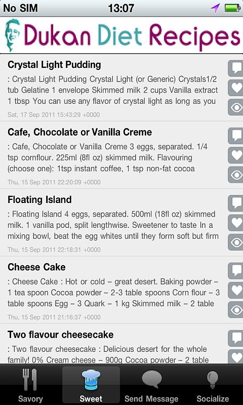 DukanDiet Recipes- screenshot